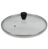 Coperchio in Vetro + Pomolo Soft Touch Nero PENTOLPRESS 26 cm - Glass/Black Lid