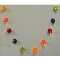 Cordone Luci di Natale Palle Luminose Led Luce Calda 38147 Colorate 170 cm