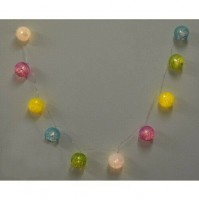 Cordone Luci di Natale Palle Luminose Led Luce Calda 38147 Colorate Fitte 170 cm