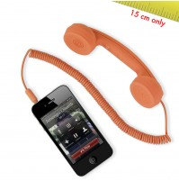 Cornetta HI-RING MINI Arancione originale Hi-Fun - iPhone skype auricolare -
