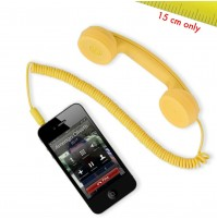 Cornetta HI-RING MINI Giallo originale Hi-Fun - iPhone skype auricolare -