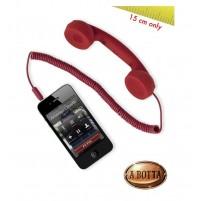 Cornetta HI-RING MINI Rosso originale Hi-Fun - iPhone skype auricolare -