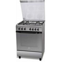 Cucina 60x60 cm 4 Fuochi Gas Indesit I6TMH2AF(X)/I Inox Forno Elettrico Classe A
