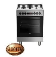 Cucina a Gas 60x60 cm BEKO FSE62110DXF Silver con Forno Elettrico Multifunzione