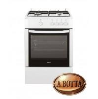 Cucina a Gas 60x60cm  4 Fuochi BEKO CSG62000DW Bianca Forno Gas