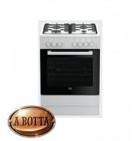 Cucina a Gas 60x60cm 4 Fuochi BEKO FSST62110DW Bianca Forno Elettrico statico