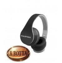 Cuffia Bluetooth 2.1 con Microfono Master BTH02 Nero con e Senza Fili Jack 3.5
