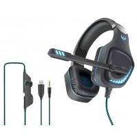 Cuffia Gaming con Microfono Karma GT 97BL Blu con LED Jack+USB