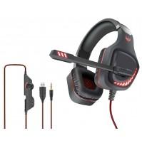 Cuffia Gaming con Microfono Karma GT 97R Rosso con LED Jack+USB