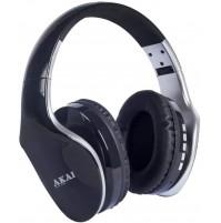 Cuffia Stereo Bluetooth Ricaricabile AKAI BTH11 Silver Microfono MicroSD Radio