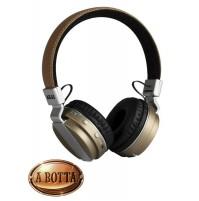 Cuffia Stereo Bluetooth Ricaricabile AKAI Pro Series BTH08 Beige con Microfono