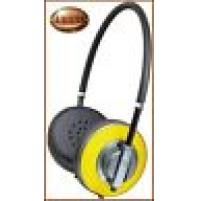 Cuffia TREVI AIR DJ 623 M GIALLO con microfono incorporato jack 3,5 mm