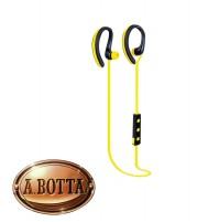 Cuffie Auricolari Bluetooth Senza Fili TREVI HMP 1215 BT Giallo Microfono Sport