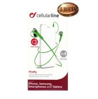 Cuffie Auricolari con Microfono Cellular Line FIREFLY Verde per iPhone Samsung