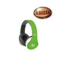 Cuffie Pieghevole con Microfono Trevi DJ 677 M Verde - Cuffia PC Notebook