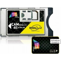 Digiquest CAM TivùSat 4K Ultra HD con Smartcard INCLUSA per Tv Satellitare Rai