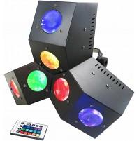 Effetto Luce Rotante Proiettore 24 LED  Karma DJ LED234 Disco Light Auto o DMX