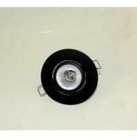 Faretto Nero Incasso Oscillante per Lampadina Bispina 12V 50W G6,35