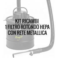 Filtro Hepa con Rete Metallica Trevi Trevidea ASP431 x Aspiratutto BRAGIA ASP429