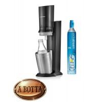 Gasatore d'Acqua SODASTREAM Crystal Black + Bombola CO2 + 1 Bottiglia in Vetro