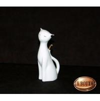 Gatto in Porcellana Bianca da Dipingere e Confezionare - Bomboniere Decoupage