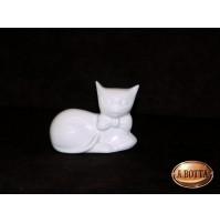 Gatto in Porcellana Bianca da Dipingere e Confezionare - Decoupage Bomboniere