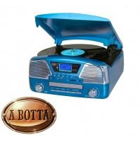 Giradischi Stereo 33 45 78 Giri Trevi TT 1068 E Blu Bluetooth CD Enconding
