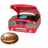 Giradischi Stereo 33 45 78 Giri Trevi TT 1068 E Rosso Bluetooth CD Enconding
