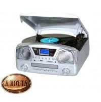 Giradischi Stereo 33 45 78 Giri Trevi TT 1068 E Silver Bluetooth CD Enconding