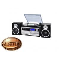 Giradischi Stereo 33 45 78 Giri Trevi TT 1070 Nero Encoding Bluetooth CASSETTE