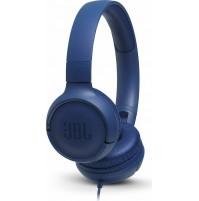 JBL TUNE 500 JBLT500BLU Cuffie Sovraurali con Cavo con Microfono Blu