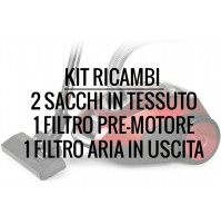 Kit Ricambi Aspirapolvere ASP437 ASP445 TREVI ASP438 - Sacco in Tessuto - Filtro