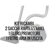 Kit Ricambi Sacchetti + Filtri Trevidea ASP424 per Aspirapolvere Trevi ASP423