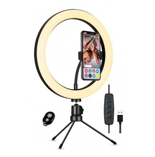 Kit luce per selfie con Supporto da tavolo - Øcm 25 - Karma