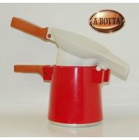 La Fonderia Set Fonduta Rosso Foppapedretti  Alluminio e Ceramica Foppa Pedretti