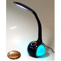 Lampada da Tavolo SMART Akai AKDL01BT Nero LED RGB + Speaker Bluetooth + USB
