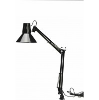 Lampada da Tavolo con morsetto Trevi IL833 Tedis Silver E27 40 Watt in Metallo