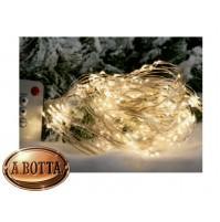 Luci di Natale Cascata 300 Micro LED da ESTERNO Luce CALDA con 8 Giochi Luce