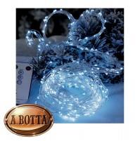 Luci di Natale Cascata 300 Micro LED da ESTERNO Luce FREDDA con 8 Giochi Luce