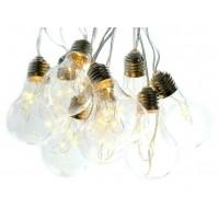 Luci di Natale Catena di 16 Lampadine Trasparenti a LED 4,5 metri con Luce Calda