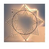 Luci di Natale STELLA con 150 micro LED Fissi da ESTERNO a LUCE CALDA Ø 37 cm