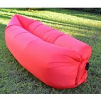 Materassino Gonfiabile AIR BAG Rosso - Letto Piscina Spiaggia Campeggio Divano