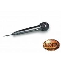 Microfono Dinamico Unidirezione TREVI EM24 Nero 600 ohm Connettore Ø 6,5 mm