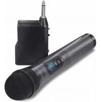 Microfono Wireless Senza Fili fino a 20m Trevi EM 401 con Ricevitore Jack 6,3 mm