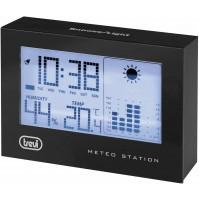 Mini Stazione Meteo Trevi ME 3103 con Orologio Igrometro e Grafico 12 ore-  Nero