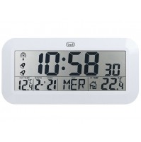 Orologio Digitale Radiocontrollato Trevi OM 3528 Bianco da Parete e Tavolo Clock