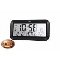 Orologio Digitale Radiocontrollato Trevi OM 3528 Nero da Parete e Tavolo Clock