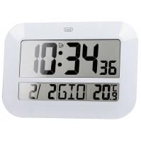 Orologio Digitale Radiocontrollato Trevi OM 3540 Bianco da Parete con Sveglia