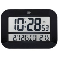 Orologio Digitale Radiocontrollato Trevi OM 3540 Nero da Parete con Sveglia
