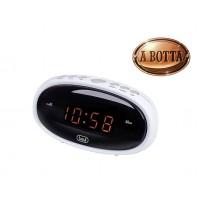 Orologio Digitale con Due Sveglie Trevi EC 880 Bianco e Funzione Snooze